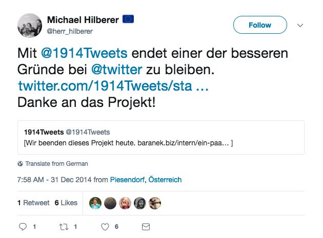 1914Tweets Reply von @herr_hilberer